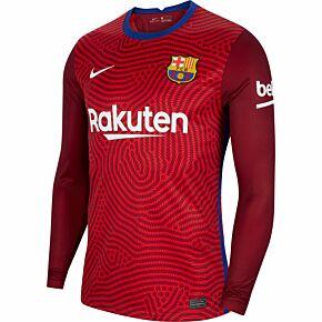 20-21 Barcelona L/S GK Shirt - Red