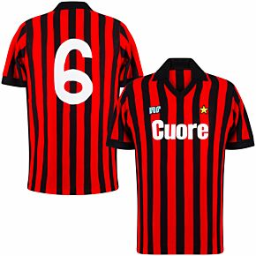 83-84 AC Milan Ennerre Authentic Remake Shirt - Cuore Sponsor