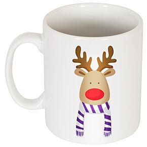 Reindeer Supporters Mug - Purple/White