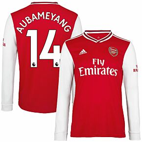 adidas Arsenal Home L/S Aubameyang 14 Jersey 2019-2020 (Official Premier League Printing)