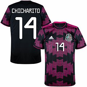 21-22 Mexico Home Shirt + Chicharito 14 (Official Printing)