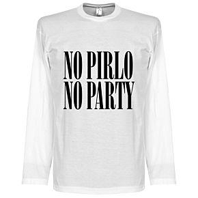 No Pirlo No Party L/S Tee - White