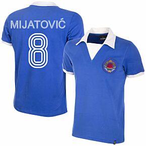 80-81 Yugoslavia Home Retro Shirt + Mijatović 8 (Retro Flock Printing)