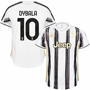 20-21 Juventus Home Shirt + Dybala 10 (Official Club Printing)