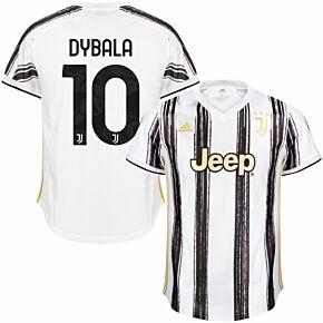 20-21 Juventus Home Shirt + Dybala 10 (Official Club Printing)
