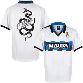 1990 Inter Milan Away Retro Shirt + Biscione Snake Print