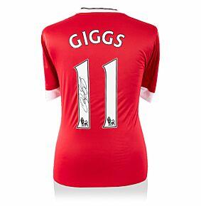 Ryan Giggs Back Signed Man Utd Home Shirt