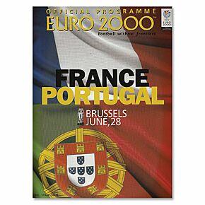 France vs Portugal European Championships in Brussels Program - June 28, 2000