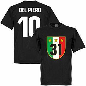 Juventus 31 Campione Del Piero Tee - Black