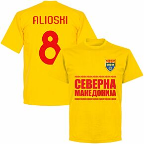 North Macedonia Alioshi 8 Team T-shirt - Yellow