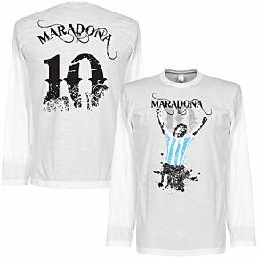 Maradona No.10 L/S Tee - White