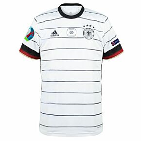 20-21 Germany Home Shirt v Portugal MDT + Euro 2020 & Respect Patches