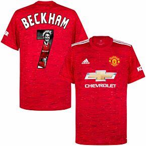 20-21 Man Utd Home Shirt + Beckham 7 (Gallery Style)