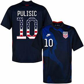 20-21 USA Away Shirt + Pulisic 10 (Independence Day Printing)