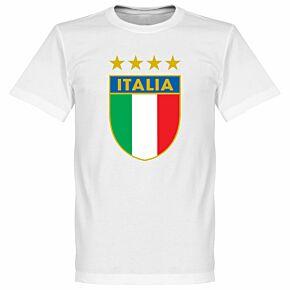 Italia Crest Tee - White
