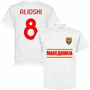 Macedonia Alioshi 8 Team T-shirt - White
