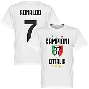 Campioni D'Italia 37 Ronaldo 7 Tee - White