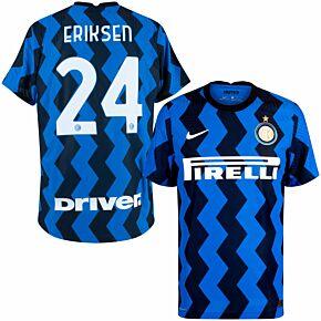 20-21 Inter Milan Vapor Match Home Shirt + Eriksen 24 (Official Print)