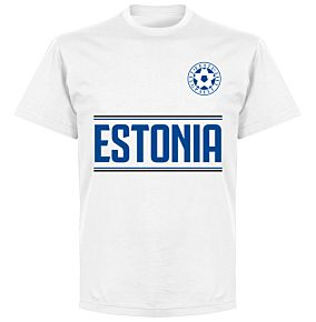 Estonia Team T-Shirt - White