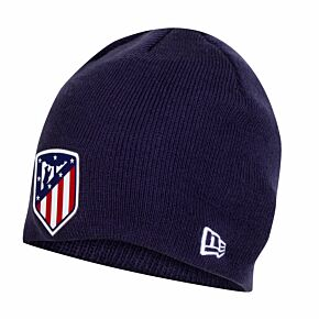 New Era Atletico Madrid Skull Knit Beanie Hat - Navy