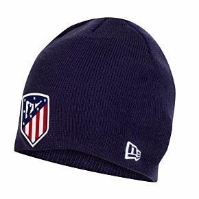 New Era Atletico Madrid Skull Knit Beanie Hat - Navy