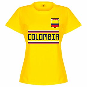 Colombia Team Womens Tee - Yellow