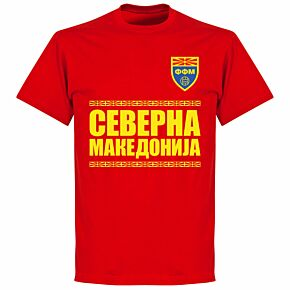 North Macedonia Team T-shirt - Red