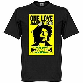 Bob Marley One Love Jammin For Jamaica Tee - Black