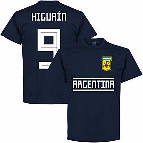Argentina Higuaín 9 Team Tee - Navy
