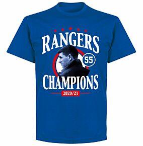 Rangers 55 Champions T-shirt - Royal