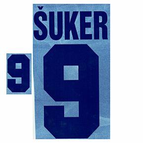 Šuker 9 - 98-99 Croatia Home Retro Flock Printing