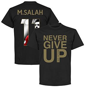 Never Give Up Liverpool M. Salah 11 Gallery Tee - Black/Gold