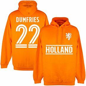 Holland Dumfries 22 Team Hoodie - Orange