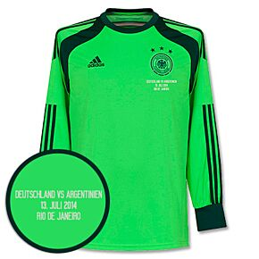 Germany Home Goalkeeper Jersey 2014 / 2015 + World Cup Final Match Day Transfer
