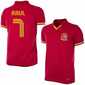 1988 Spain Retro Shirt + Raul 7 (Fan Style)