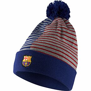 Barcelona Winter Beanie - Royal/Red/Grey