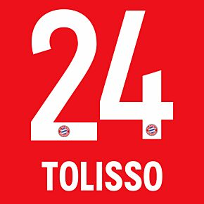 Tolisso 24 - 20-21 Bayern Munich Home (Official Printing)