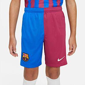 21-22 Barcelona Home Shorts - Kids
