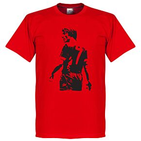 Kenny Dalglish Graffiti Tee - Red