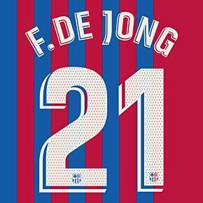 F. De Jong 21 (Official Printing) - 21-22 Barcelona Home