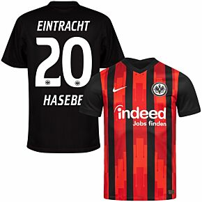 20-21 Eintracht Frankfurt Home Shirt + Hasebe 20 (Official Printing)