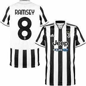 21-22 Juventus Home Shirt + Ramsey 8 (Official Printing)