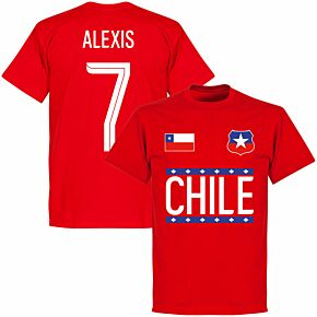 Chile Alexis 7 Team T-shirt - Red