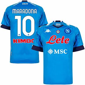 20-21 Napoli Home Shirt + Maradona 10 (Official Printing)
