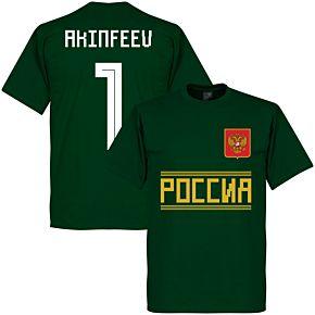 Russia Team Akinfeeu 1 Tee - Bottle Green