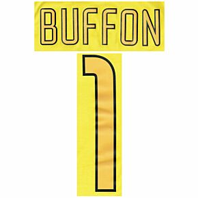 Buffon 1 Juventus 03-04 Home GK Official Name and Number Set
