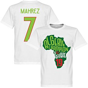 Algeria Champions of Africa Mahrez 7 Map Tee - White/ Green