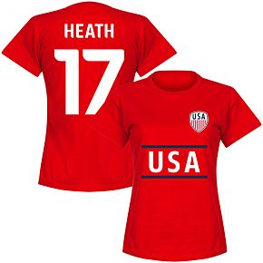 USA Heath 17 Team Womens T-Shirt - Red