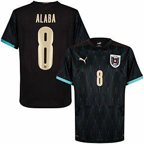 20-21 Austria Away Shirt + Alaba 8 (Official Printing)