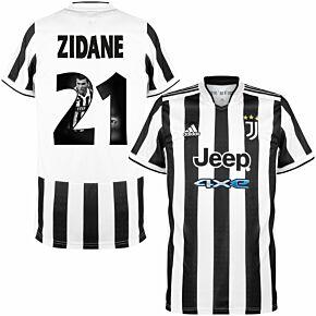 21-22 Juventus Home Shirt + Zidane 21 (Gallery Style)